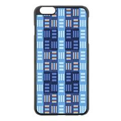 Textile Structure Texture Grid Apple iPhone 6 Plus/6S Plus Black Enamel Case