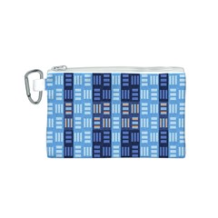 Textile Structure Texture Grid Canvas Cosmetic Bag (s)