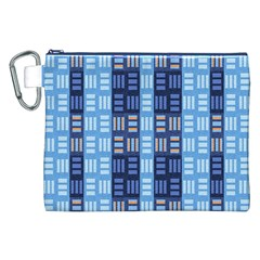 Textile Structure Texture Grid Canvas Cosmetic Bag (XXL)