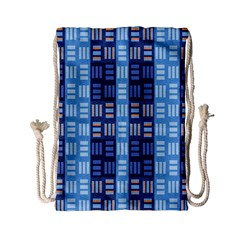 Textile Structure Texture Grid Drawstring Bag (small)