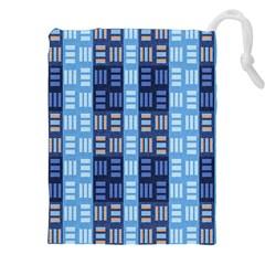 Textile Structure Texture Grid Drawstring Pouches (xxl)