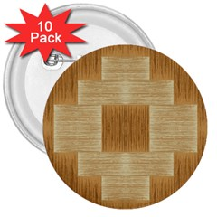Texture Surface Beige Brown Tan 3  Buttons (10 pack)