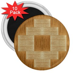Texture Surface Beige Brown Tan 3  Magnets (10 Pack)