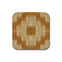 Texture Surface Beige Brown Tan Rubber Square Coaster (4 Pack)