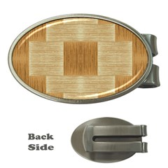 Texture Surface Beige Brown Tan Money Clips (oval)