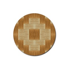 Texture Surface Beige Brown Tan Rubber Coaster (round)