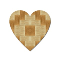 Texture Surface Beige Brown Tan Heart Magnet