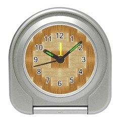 Texture Surface Beige Brown Tan Travel Alarm Clocks