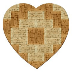 Texture Surface Beige Brown Tan Jigsaw Puzzle (heart)