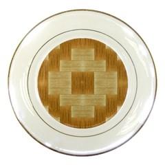 Texture Surface Beige Brown Tan Porcelain Plates