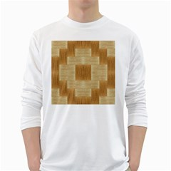 Texture Surface Beige Brown Tan White Long Sleeve T-Shirts