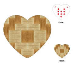 Texture Surface Beige Brown Tan Playing Cards (heart)