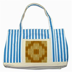 Texture Surface Beige Brown Tan Striped Blue Tote Bag