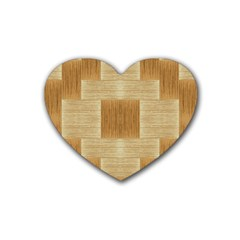 Texture Surface Beige Brown Tan Heart Coaster (4 pack)