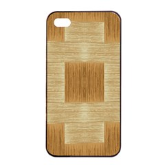 Texture Surface Beige Brown Tan Apple iPhone 4/4s Seamless Case (Black)