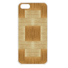 Texture Surface Beige Brown Tan Apple Iphone 5 Seamless Case (white)