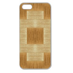 Texture Surface Beige Brown Tan Apple Seamless Iphone 5 Case (clear)