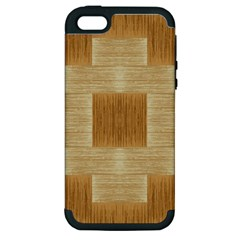 Texture Surface Beige Brown Tan Apple Iphone 5 Hardshell Case (pc+silicone)