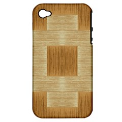 Texture Surface Beige Brown Tan Apple Iphone 4/4s Hardshell Case (pc+silicone)