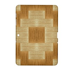 Texture Surface Beige Brown Tan Samsung Galaxy Tab 2 (10 1 ) P5100 Hardshell Case