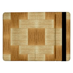 Texture Surface Beige Brown Tan Samsung Galaxy Tab Pro 12 2  Flip Case