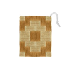 Texture Surface Beige Brown Tan Drawstring Pouches (Small)
