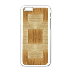 Texture Surface Beige Brown Tan Apple Iphone 6/6s White Enamel Case
