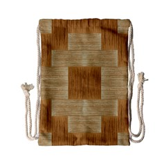Texture Surface Beige Brown Tan Drawstring Bag (Small)