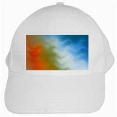Texture Glass Colors Rainbow White Cap