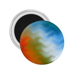 Texture Glass Colors Rainbow 2.25  Magnets