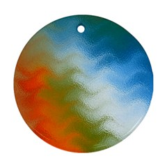 Texture Glass Colors Rainbow Ornament (Round)