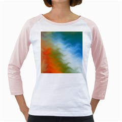 Texture Glass Colors Rainbow Girly Raglans