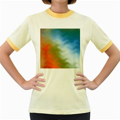 Texture Glass Colors Rainbow Women s Fitted Ringer T-Shirts