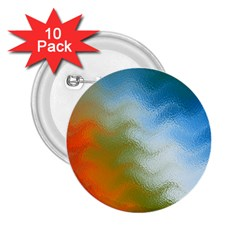 Texture Glass Colors Rainbow 2.25  Buttons (10 pack)