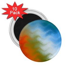 Texture Glass Colors Rainbow 2.25  Magnets (10 pack)