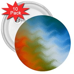 Texture Glass Colors Rainbow 3  Buttons (10 pack)
