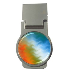 Texture Glass Colors Rainbow Money Clips (round)