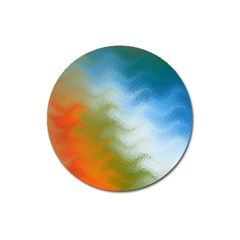 Texture Glass Colors Rainbow Magnet 3  (Round)