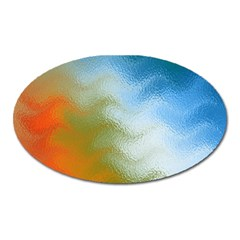 Texture Glass Colors Rainbow Oval Magnet