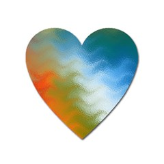 Texture Glass Colors Rainbow Heart Magnet