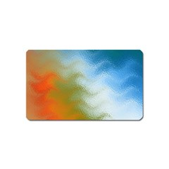 Texture Glass Colors Rainbow Magnet (Name Card)