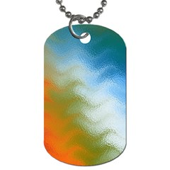 Texture Glass Colors Rainbow Dog Tag (one Side)