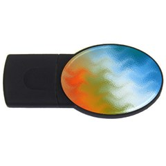Texture Glass Colors Rainbow USB Flash Drive Oval (2 GB)