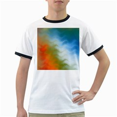 Texture Glass Colors Rainbow Ringer T-Shirts