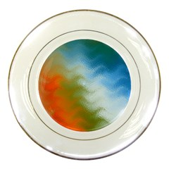 Texture Glass Colors Rainbow Porcelain Plates