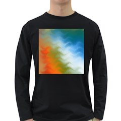 Texture Glass Colors Rainbow Long Sleeve Dark T Shirts