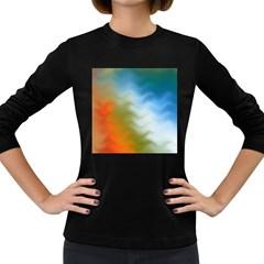 Texture Glass Colors Rainbow Women s Long Sleeve Dark T-Shirts