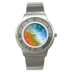 Texture Glass Colors Rainbow Stainless Steel Watch