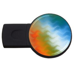 Texture Glass Colors Rainbow USB Flash Drive Round (4 GB)
