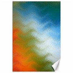 Texture Glass Colors Rainbow Canvas 12  x 18